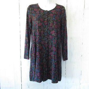 Gudrun Sjoden Tunic Top Floral Dress Lagenlook